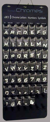 chrome letters chrome numbers chrome emblems chrome logos adhesive letters silver letters